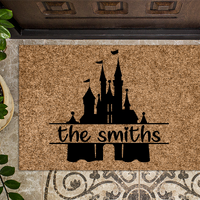 Castle Family Name Monogram Doormat