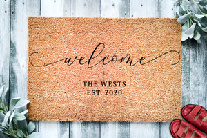 Family Name Welcome Doormat