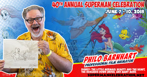 Guest announcement for 40th Annual Superman Celebration June 7th - 10th Metropolis, Illinois Philo Barnhart