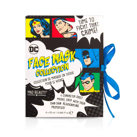 Superman, Wonder Woman, Batman, and Robin Face Mask Sheet Set DC Comics