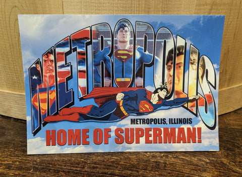 Metropolis Illinois Letter Collage Postcard