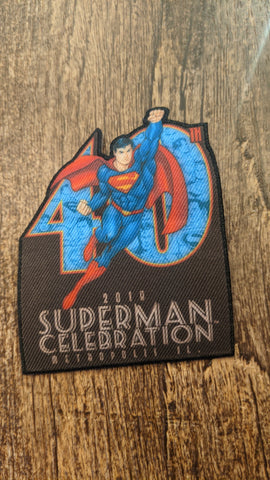 Jon Pinto Art 40th Anniversary Superman Celebration iron on Patch
