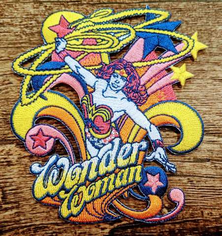 Wonder Woman Retro Style Burst Patch