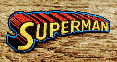 Superman Telescopic Lettering Patch