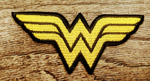 Wonder Woman Yellow Logo Patch