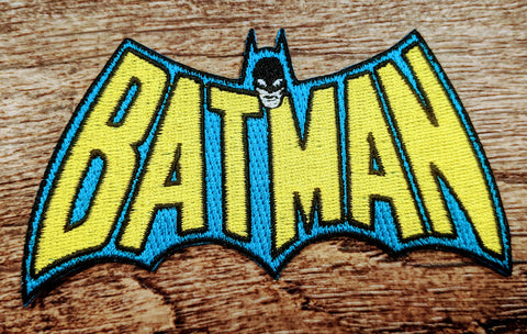 Batman Lettering Bat Symbol Patch