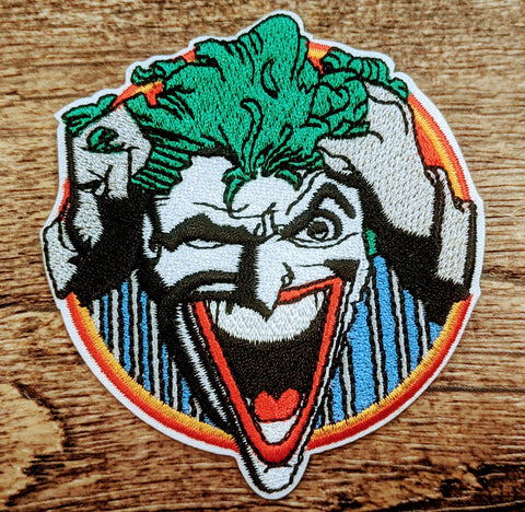 Joker Crazy Face Patch