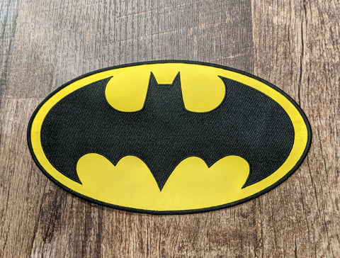 Xtra Large Batman Bat Symbol Patch