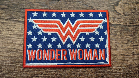 Wonder Woman American Flag Style Stars Patch