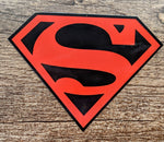 Superman Red and Black Shield Sticker Decal