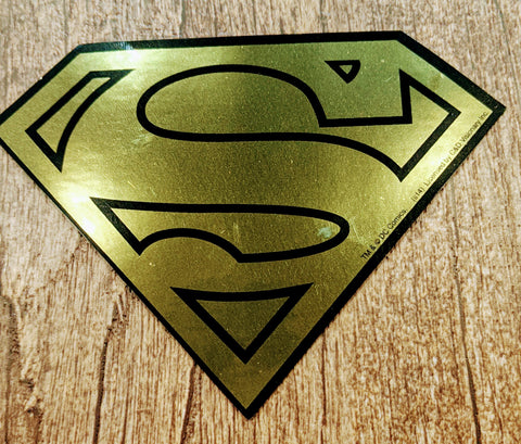 Superman Gold Logo Sticker Decal