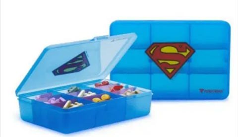 Superman Daily vitamin Container