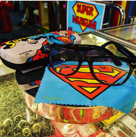 Superman Flying Clark Kent Eye Glasses Case