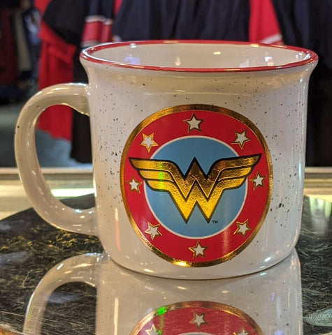 Wonder Woman Camp 20 oz. DC Comics Ceramic Camper Mug