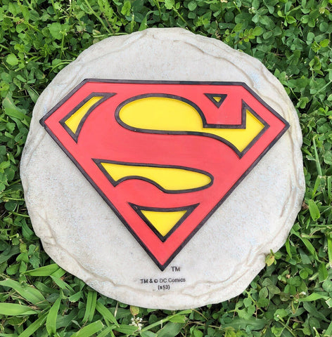 Superman Logo Garden Stepping Stone