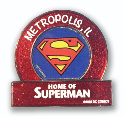 Metropolis Illinois Superman Small Red Logo Magnet