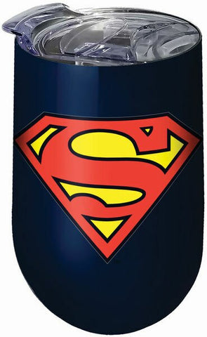 Superman Stainless Steel Tumbler with Lid