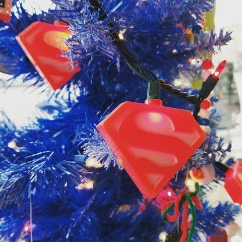 Superman Logo Christmas Light Set