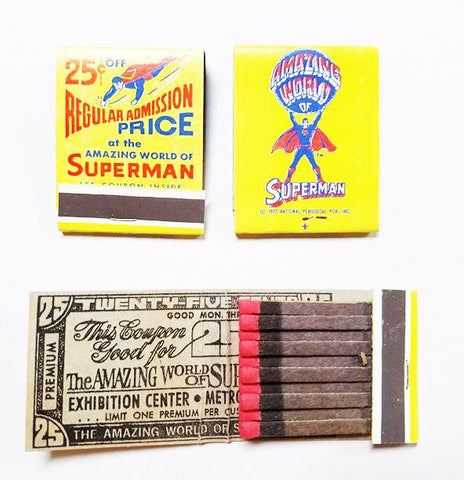 The Amazing World of Superman Collectible Match book
