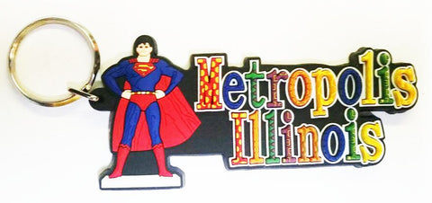 Metropolis Illinois Multi-Colored Keychain