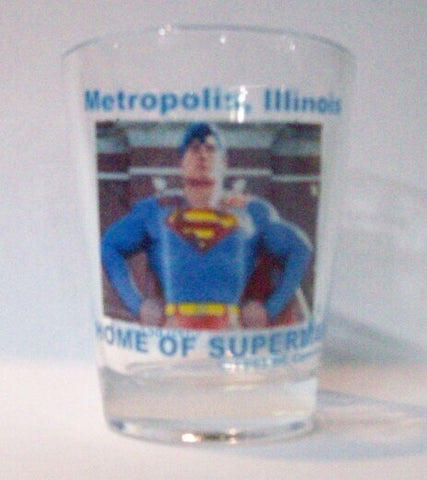 Metropolis Illinois Clear Bust Shot Glass