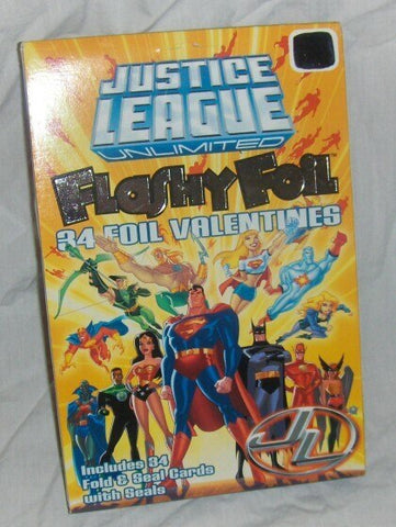 Justice League Flashy Foil Valentines