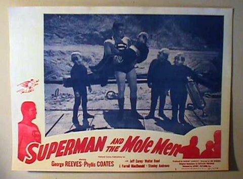 Superman and The Mole Men Lobby Red&Blue Repro
