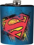 Superman Stainless Steel 7 oz Flask