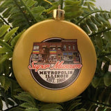 Super Museum Gold Flat Shatterproof Christmas Ornament