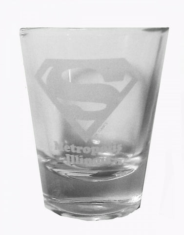 Metropolis ILLINOIS Superman Logo Shot Glass