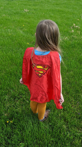 Kids Superman or Supergirl Red Child Cape
