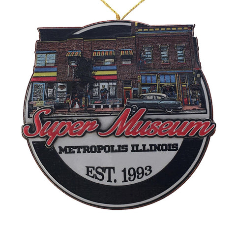 Super Museum Logo 3D Ornament