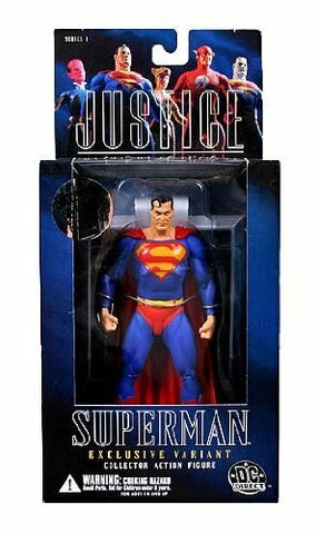 Justice #1 Alex Ross Superman DC Comics Retail Exclusive Variant Action Figure
