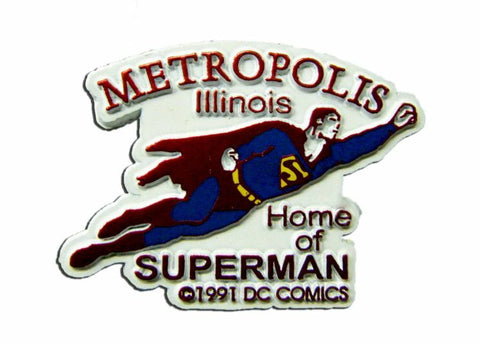 Metroplis Illinois Small Flying Magnet
