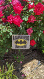 A Super Hero Lives Here Batman Yard Sign