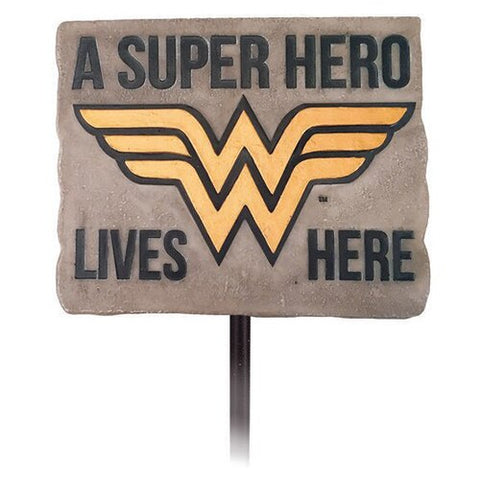 A Super Hero Lives Here Wonder Woman Yard Sign