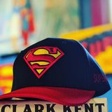 Superman Logo Navy Blue with Red Brim Hat