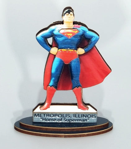 Mini Superman Statue table top standee with base