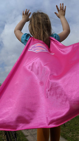 Kids Supergirl Pink Child Cape