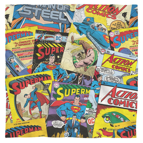 SUPERMAN Super Fan Comic Art Bandana