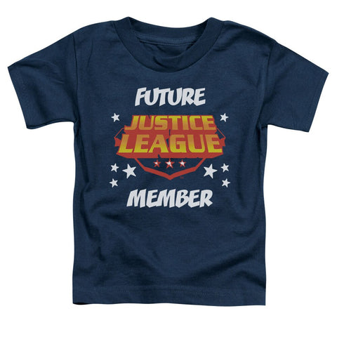 "Navy JLA Justice League of America ""Future Member"" Toddler Shrit"