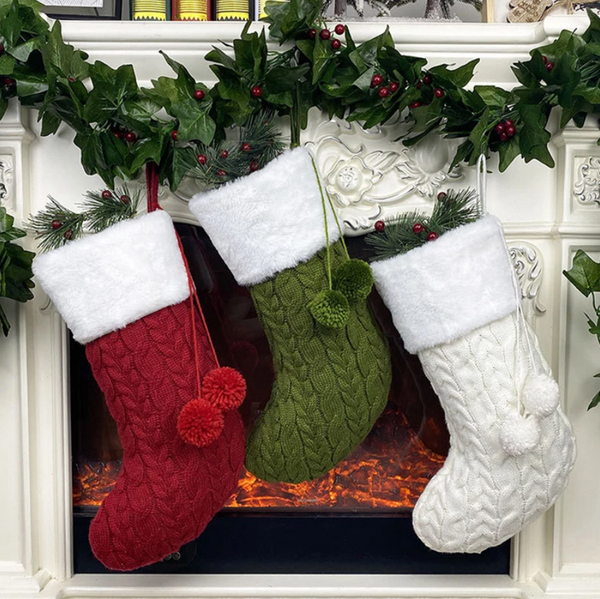 Knitted Wool Christmas Stockings