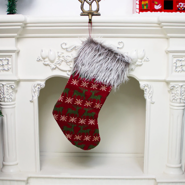 Retro Faux™ Christmas Stockings