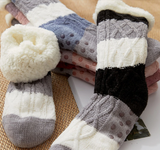 Women's Sherpa Faux Slipper Socks