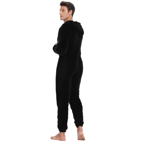 Men's Fleece Faux Winter Onesie