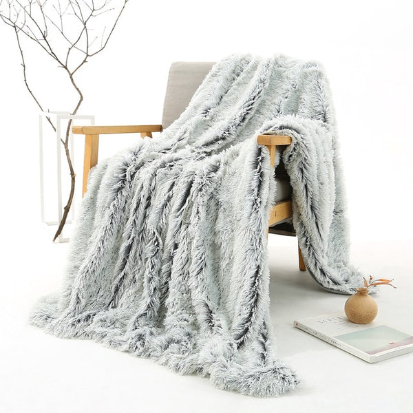 Shimmery Faux Blanket Throw