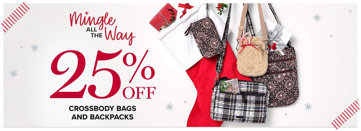 25% off Backpacks and Crossbody Bags