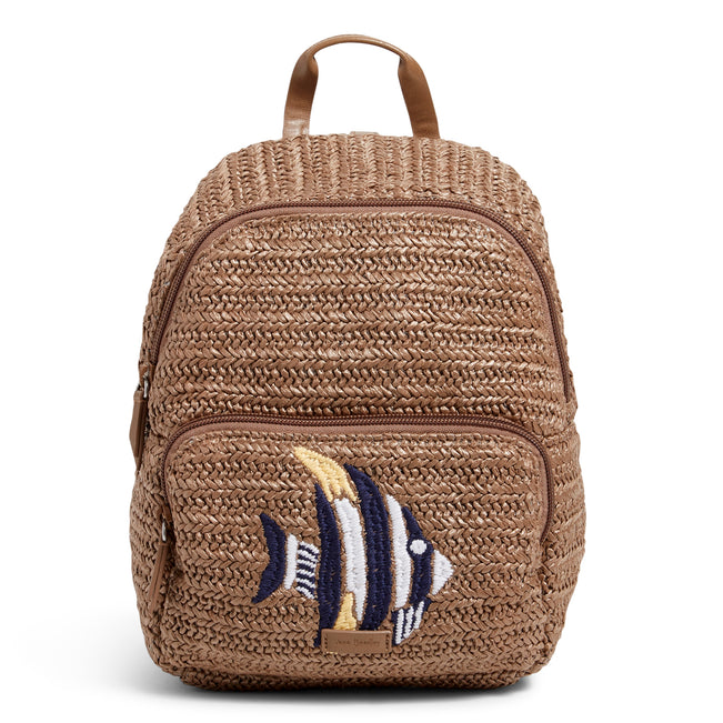 Straw Mini Convertible Backpack