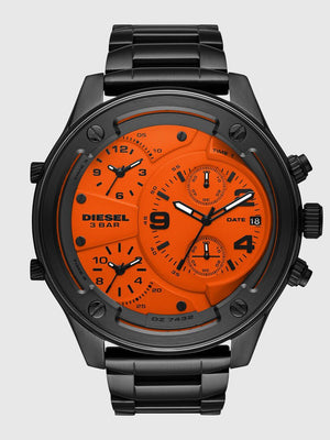 Stylish chronograph gunmetal stainless steel watch