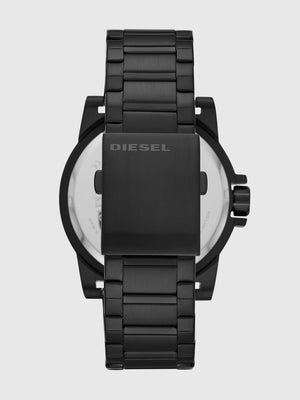 Three-Hand Black Stainless Steel Watch